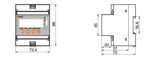 安科瑞DDSD1352-C 单相分时计量电度表