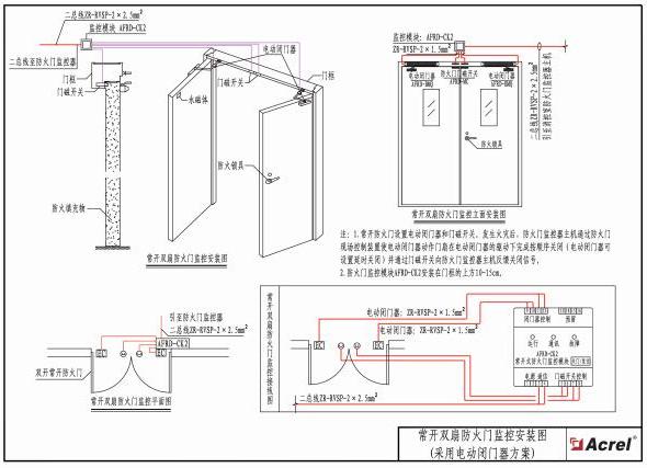 380伏电机防火门接线图